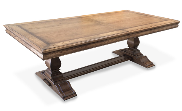 Seen Here In American Oak With Standard Solid Timber Plank Top.